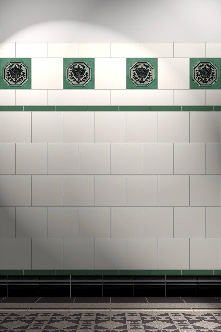 Wall tiles Tiles decorated Verlegebeispiel F 133 V1