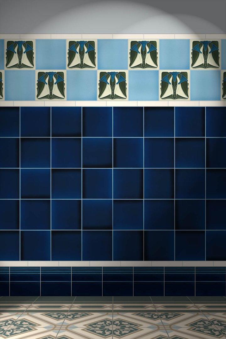 Wall tiles Tiles decorated Verlegebeispiel F 135 V1