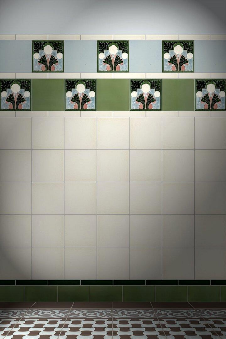 F 136 V2 Verlegebeispiel Dekorfliesen