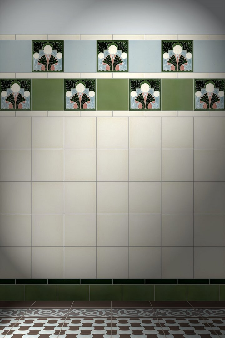 Carreaux muraux  Avec motifs Verlegebeispiel F 117 V1