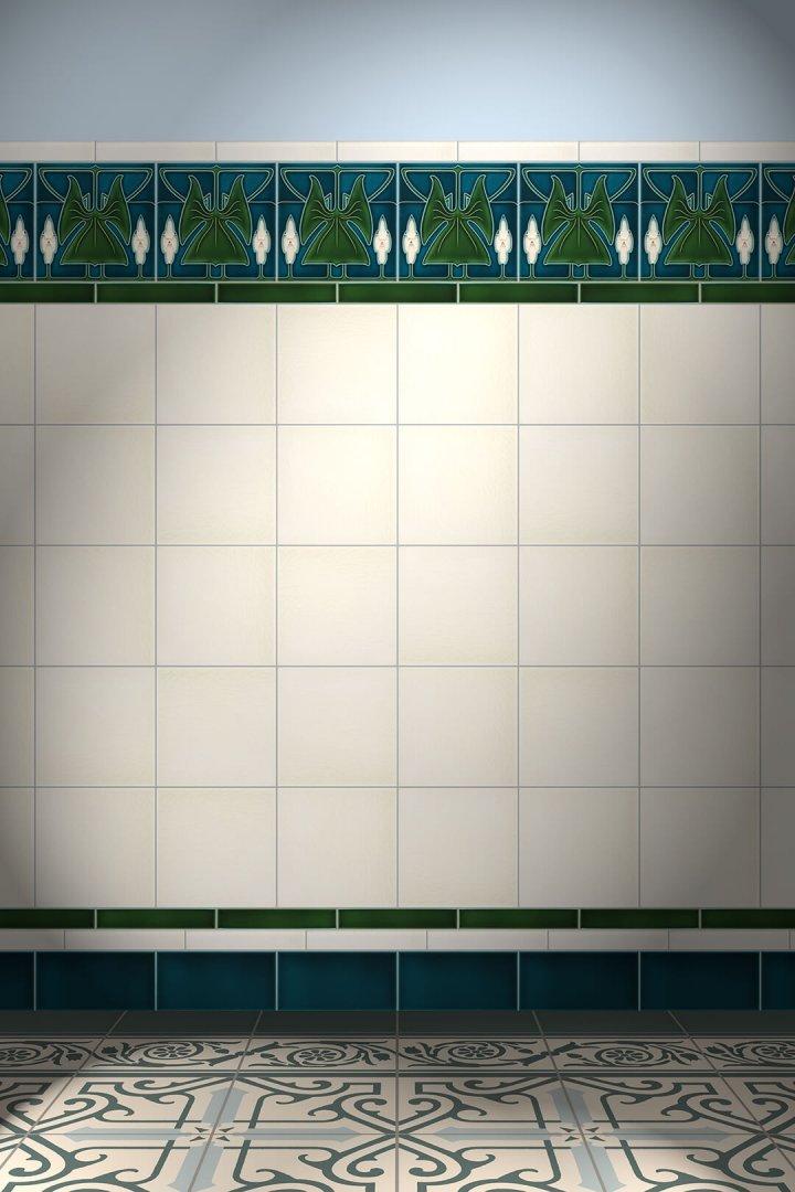 Carreaux muraux  Avec motifs Verlegebeispiel F 137