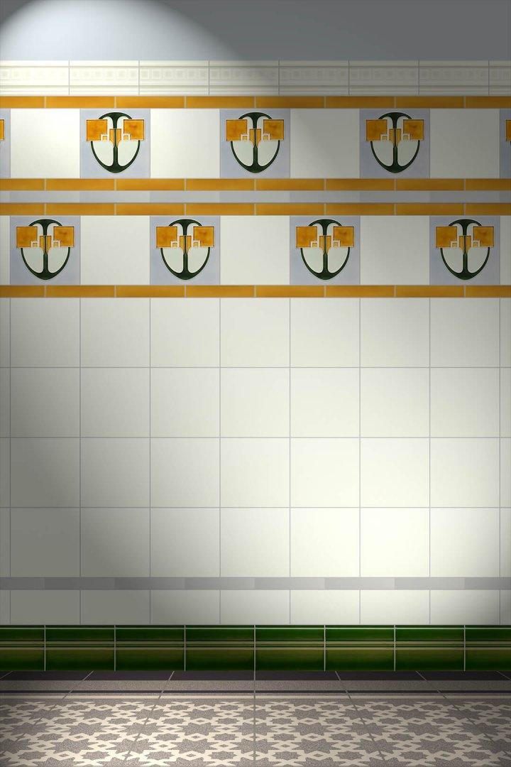 Jugendstilfliesen Verlegemuster F13 V2