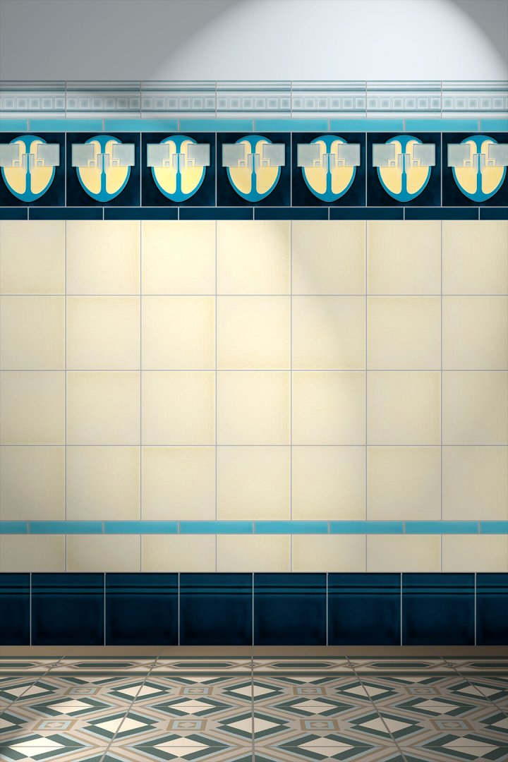 Carreaux muraux  Avec motifs Verlegebeispiel F 13 V4