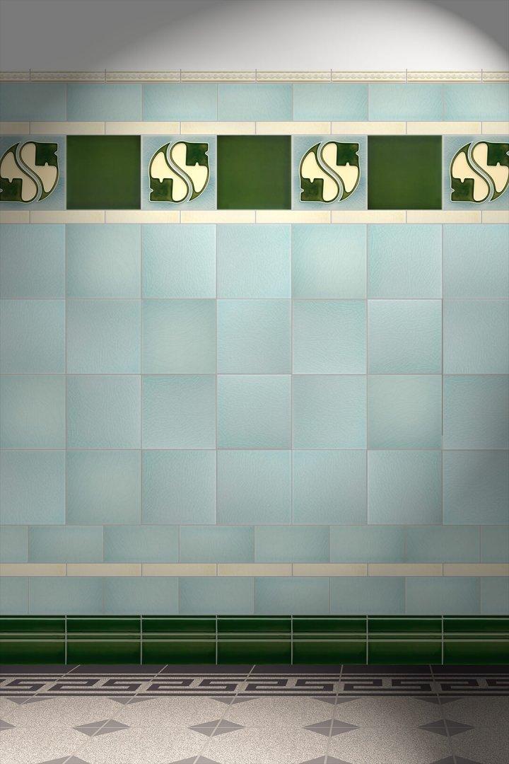 Wall tiles Tiles decorated Verlegebeispiel F 14 V1