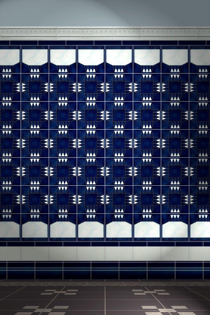 Carreaux muraux  Avec motifs Verlegebeispiel F 154 V1