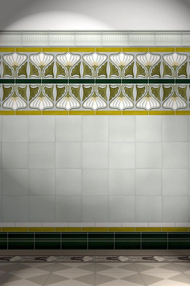 Carreaux muraux  Avec motifs Verlegebeispiel F 158 V2