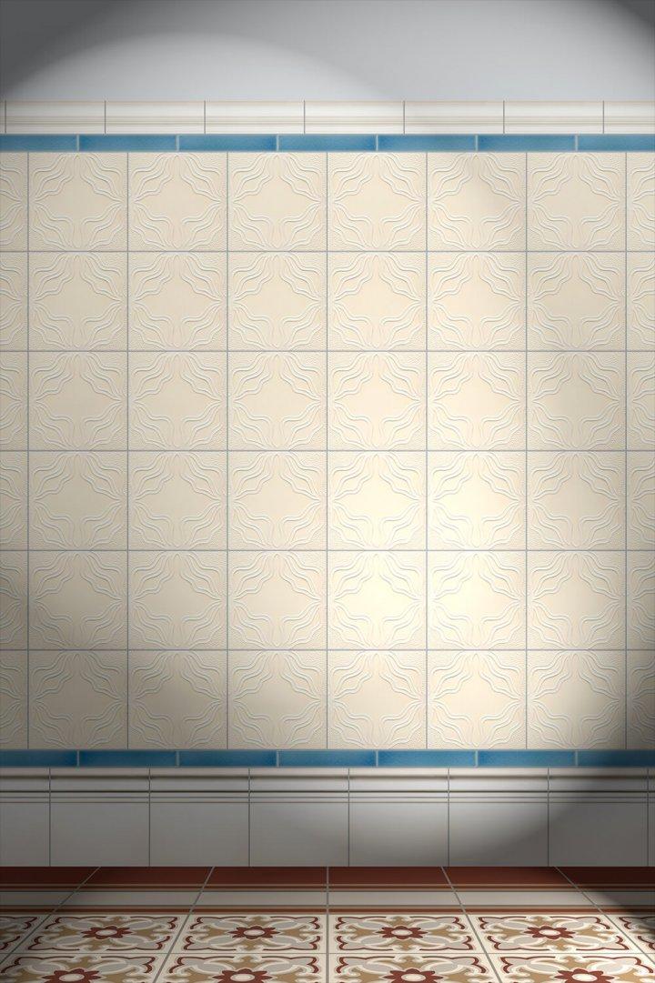 Carreaux muraux  Avec motifs Verlegebeispiel F 163