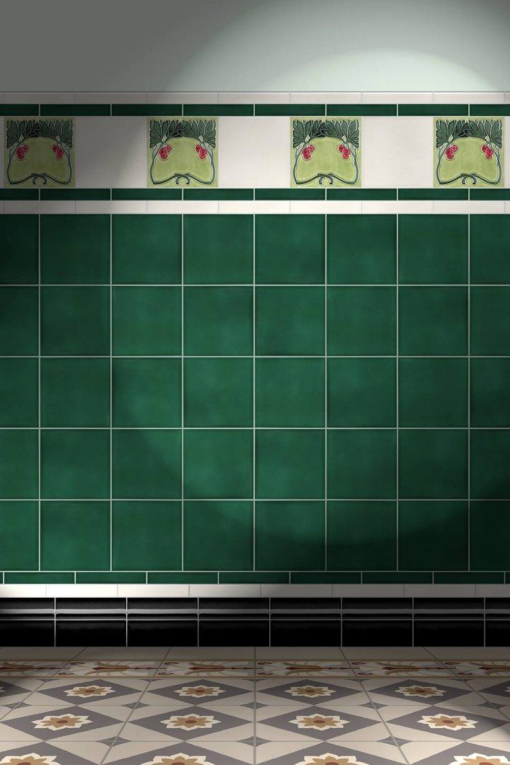 Wall tiles Tiles decorated Verlegebeispiel F 117 V1