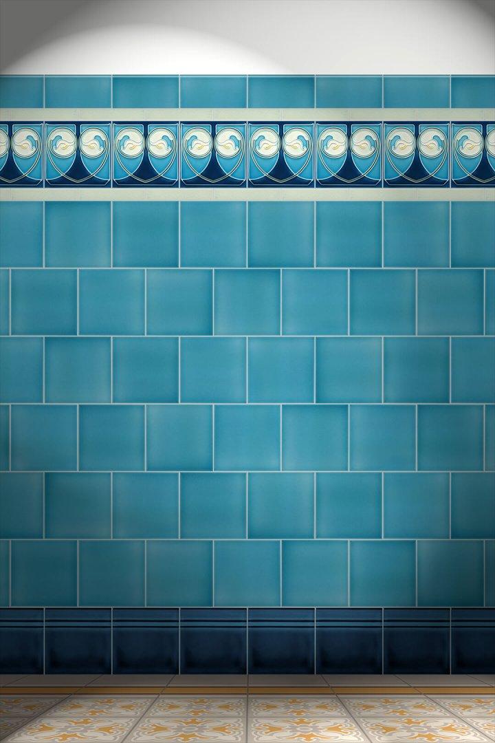 Carreaux muraux  Avec motifs Verlegebeispiel F 17 V1