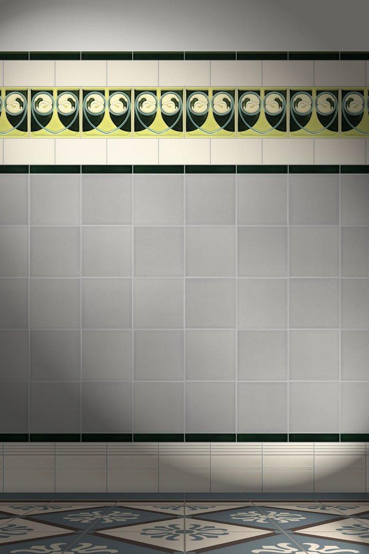 Wall tiles Tiles decorated Verlegebeispiel F 17 V2