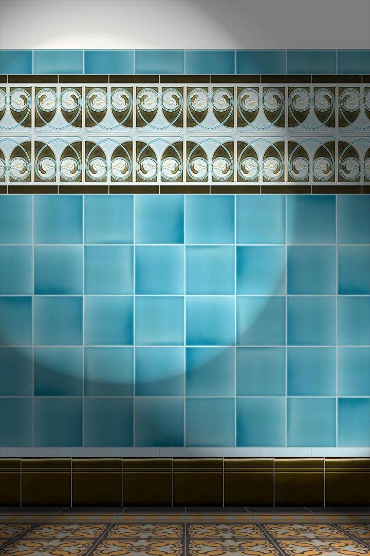 Wall tiles Tiles decorated Verlegebeispiel F 17 V3