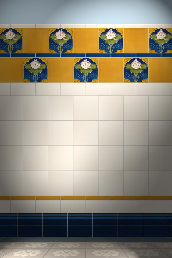 Carreaux muraux  Avec motifs Verlegebeispiel F 184 V1