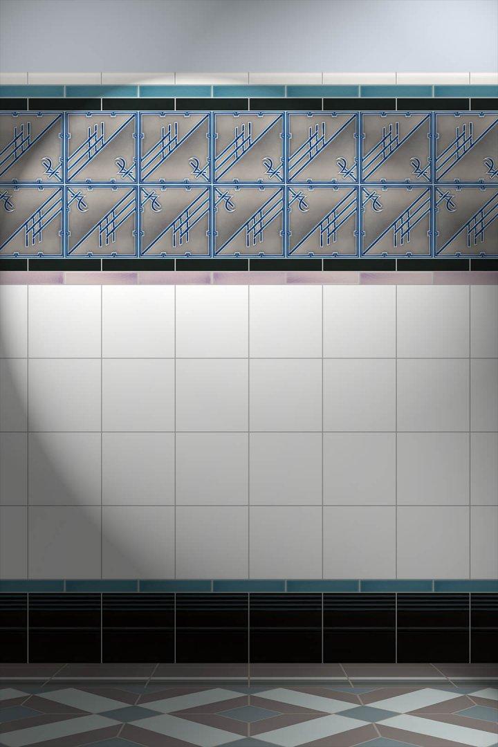 Carreaux muraux  Avec motifs Verlegebeispiel F 65 V1