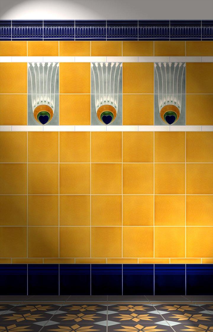 Carreaux muraux  Avec motifs Verlegebeispiel F 19a V2