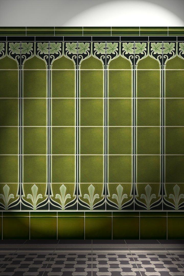 Carreaux muraux  Avec motifs Verlegebeispiel F 28b