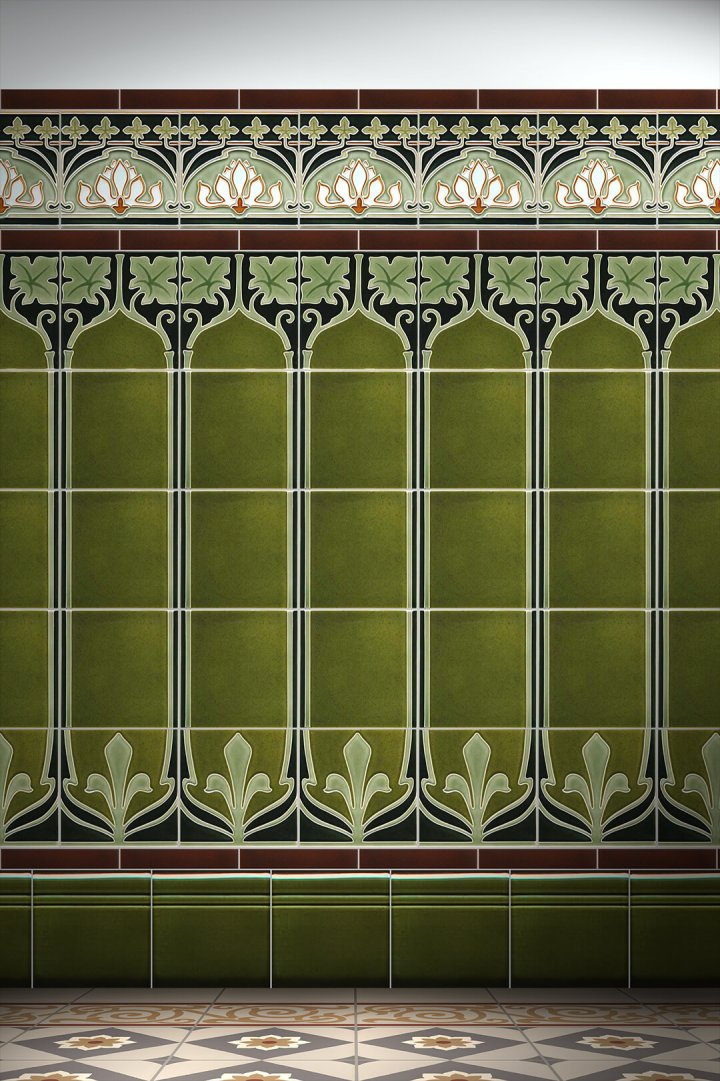Carreaux muraux  Avec motifs Verlegebeispiel F 28c