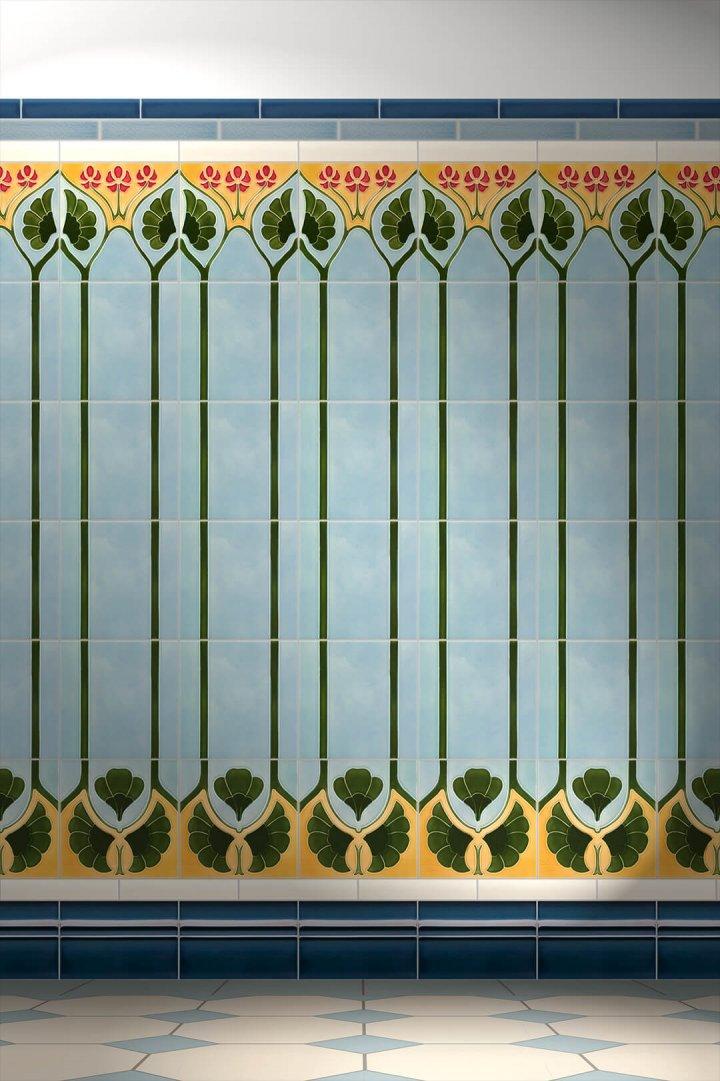 Carreaux muraux  Avec motifs Verlegebeispiel F 29a V1