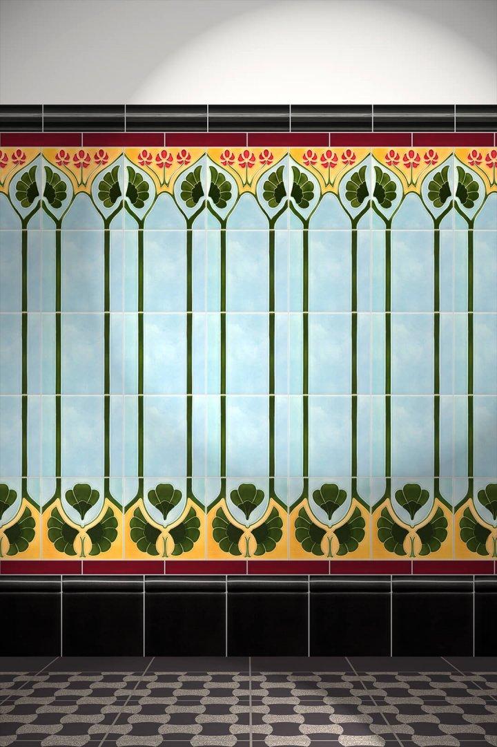 Carreaux muraux  Avec motifs Verlegebeispiel F 29b V1