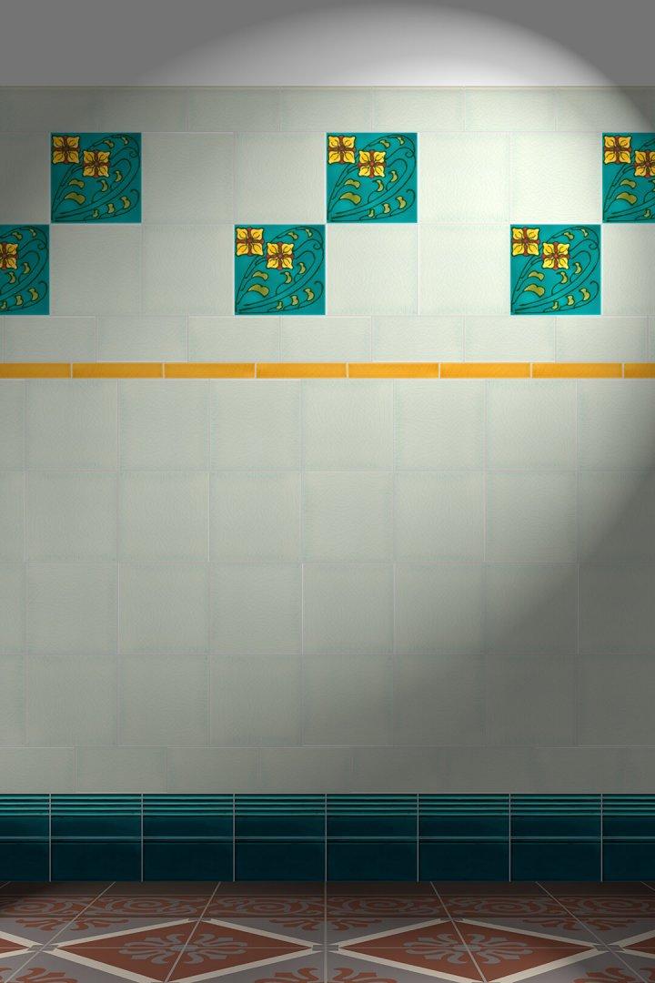 Wall tiles Tiles decorated Verlegebeispiel F 33 V1
