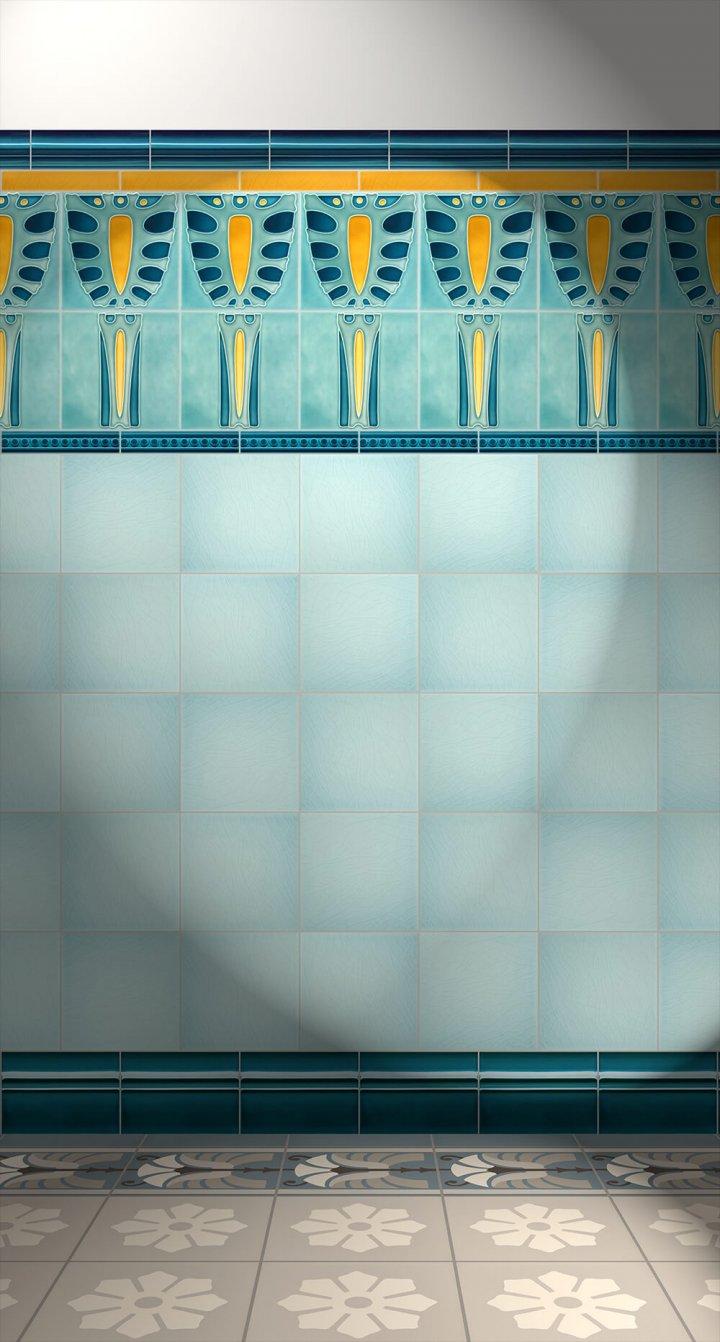 Wall tiles Tiles decorated Verlegebeispiel F 37 V1