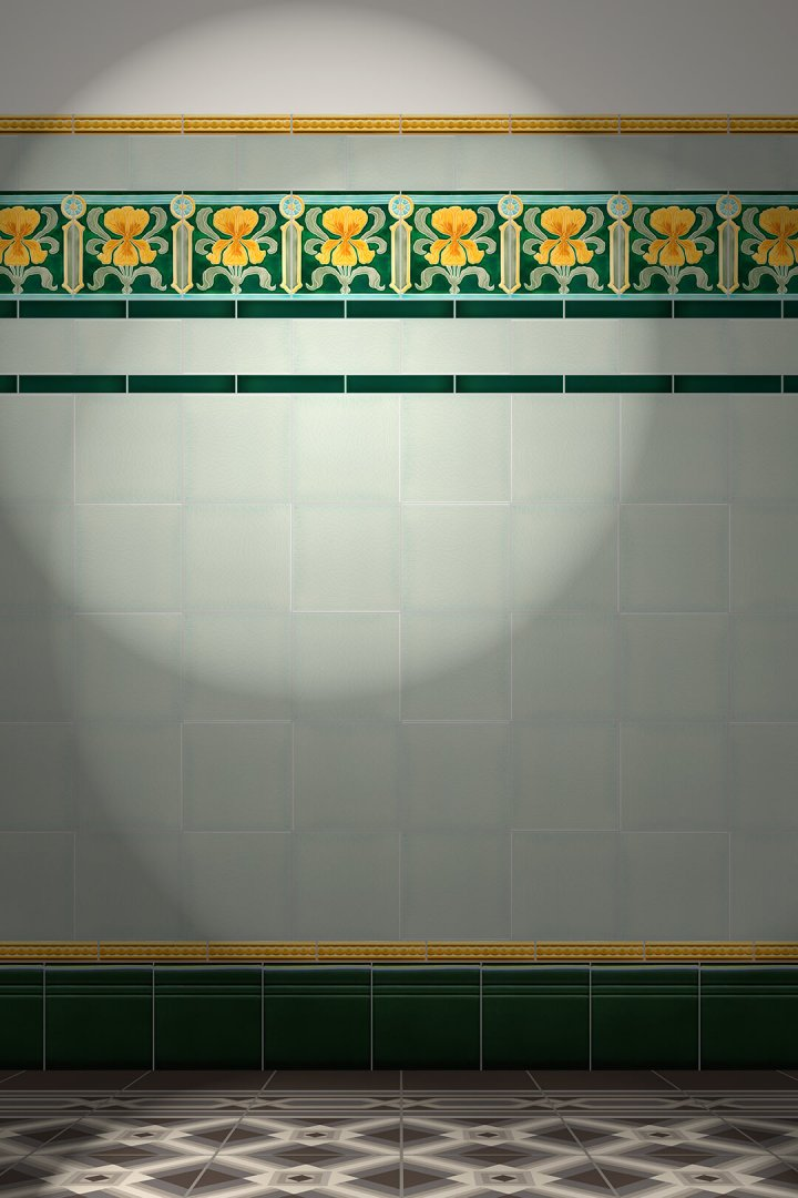 Wall tiles Tiles decorated Verlegebeispiel F 39