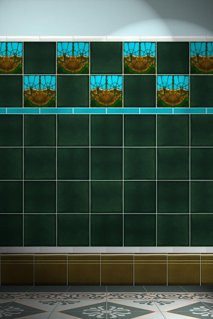 Wall tiles Tiles decorated Verlegebeispiel F 42 V1