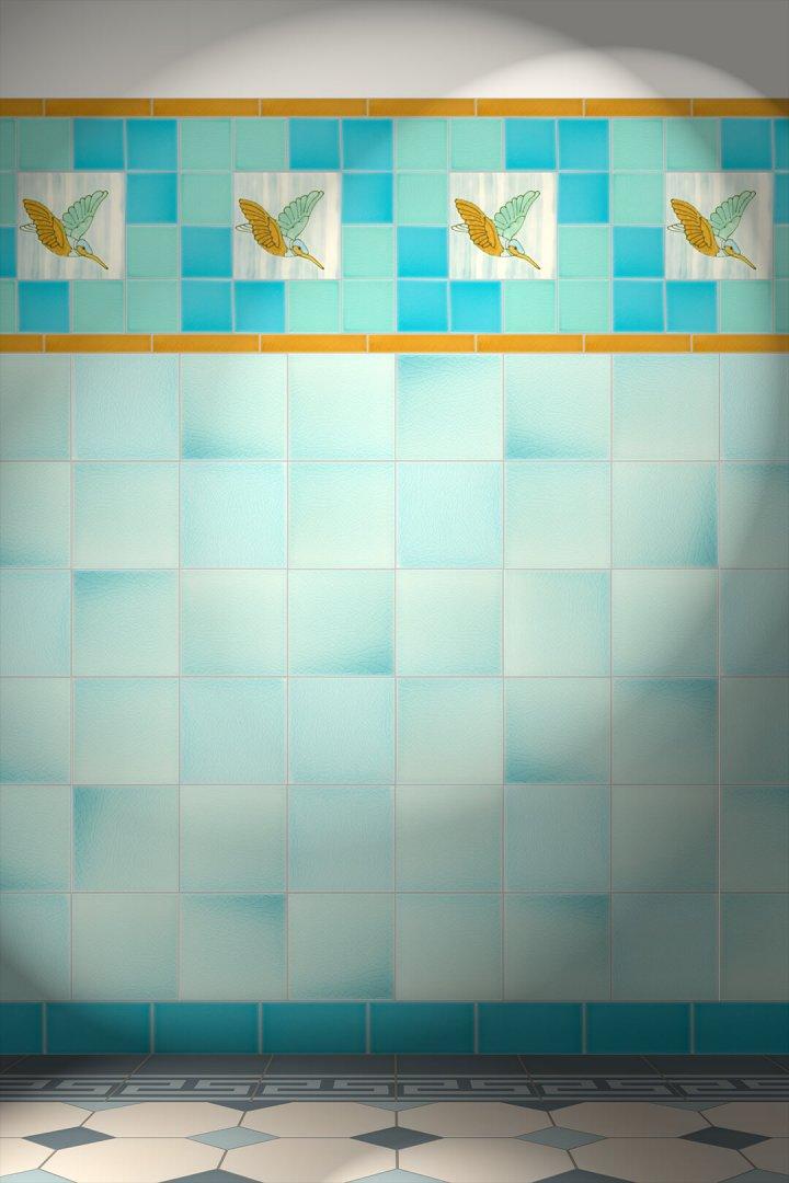 Carreaux muraux  Avec motifs Verlegebeispiel F 46 V1
