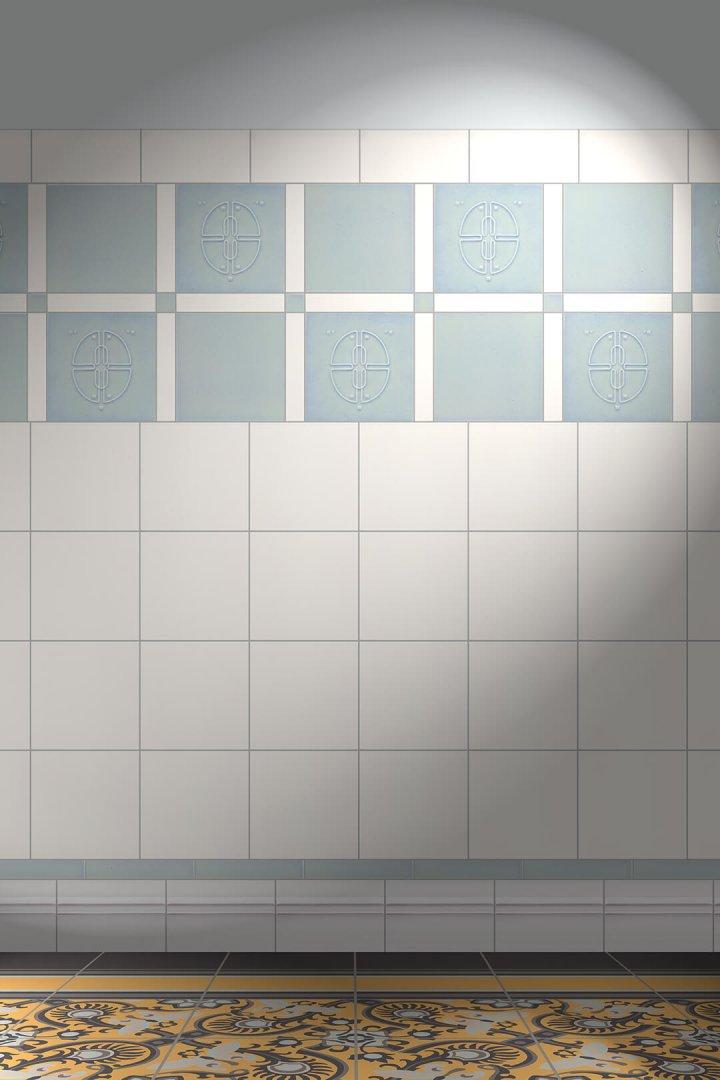 Wall tiles Tiles decorated Verlegebeispiel F 47b