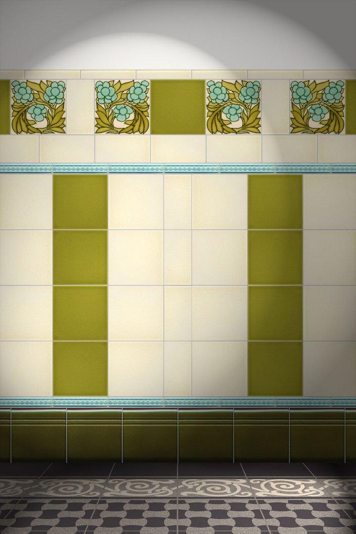 Wall tiles Tiles decorated Verlegebeispiel F 48L
