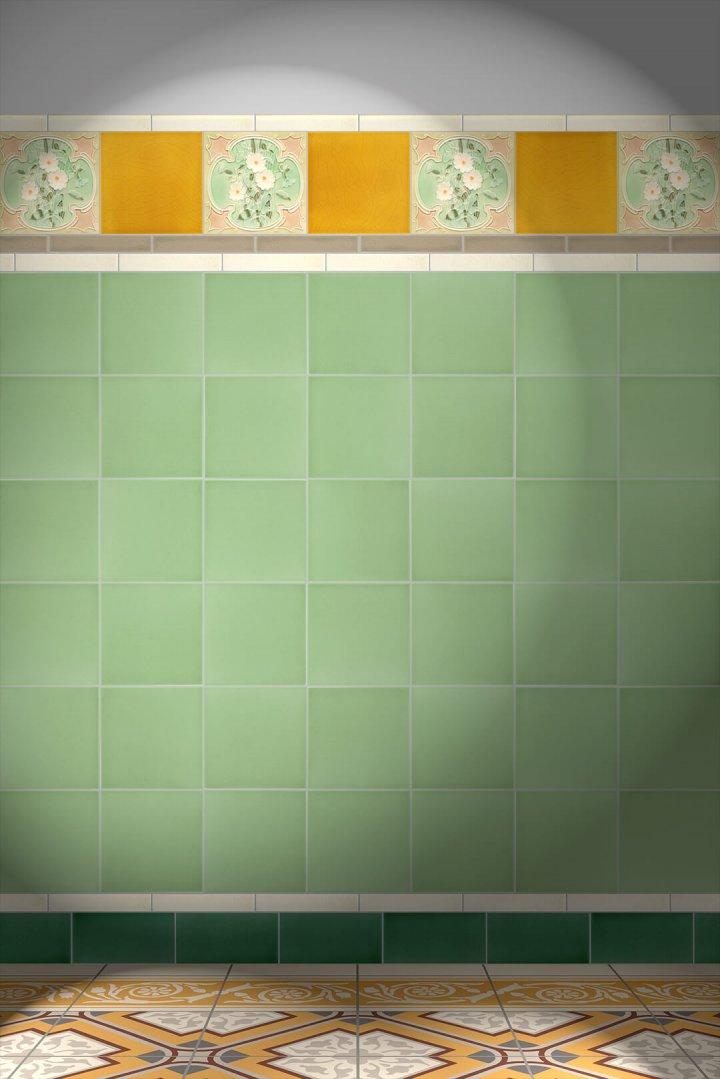 Wall tiles Tiles decorated Verlegebeispiel F 51 V1
