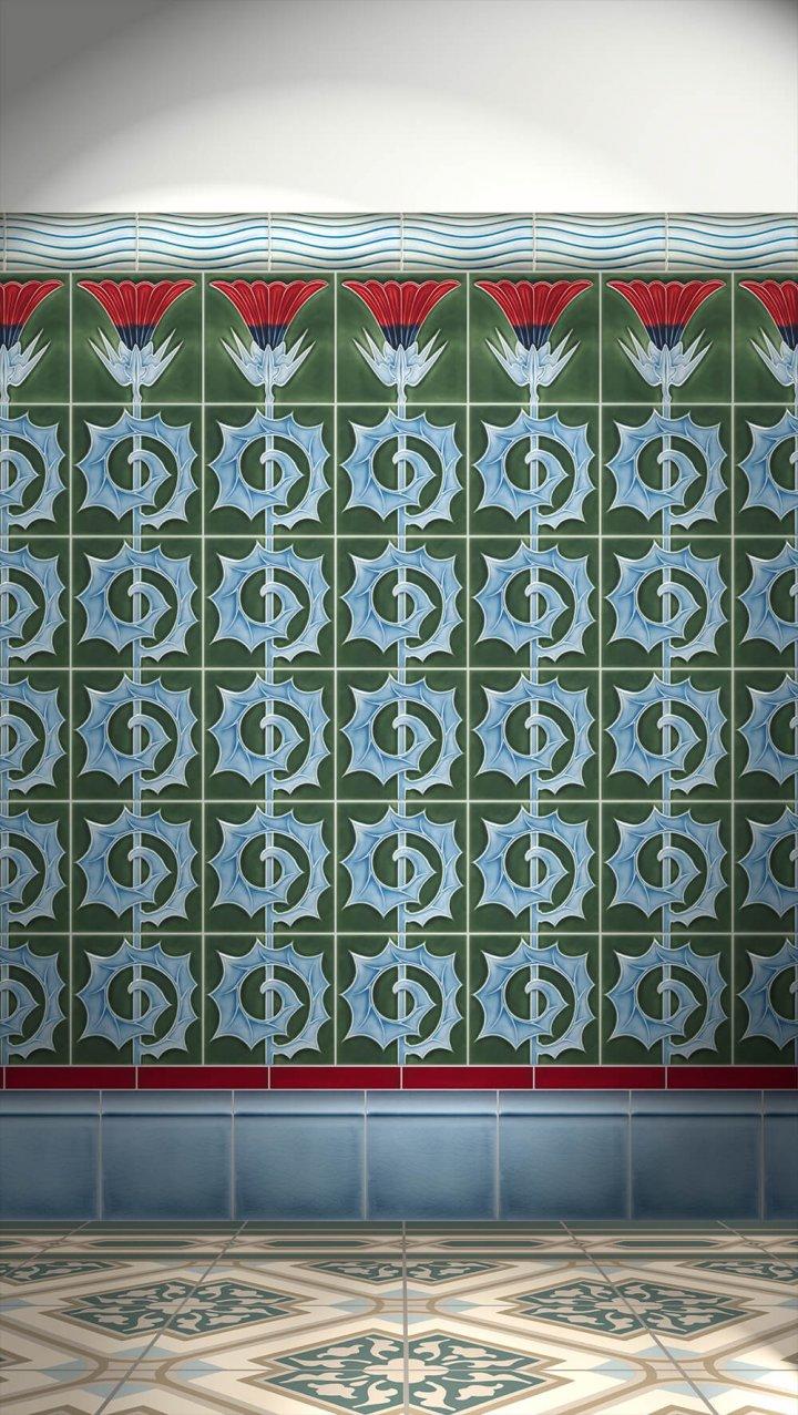 Carreaux muraux  Avec motifs Verlegebeispiel F 53b V2