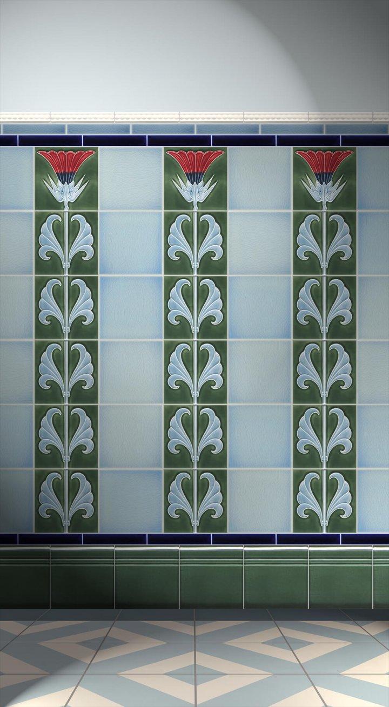 Carreaux muraux  Avec motifs Verlegebeispiel F 53c V2