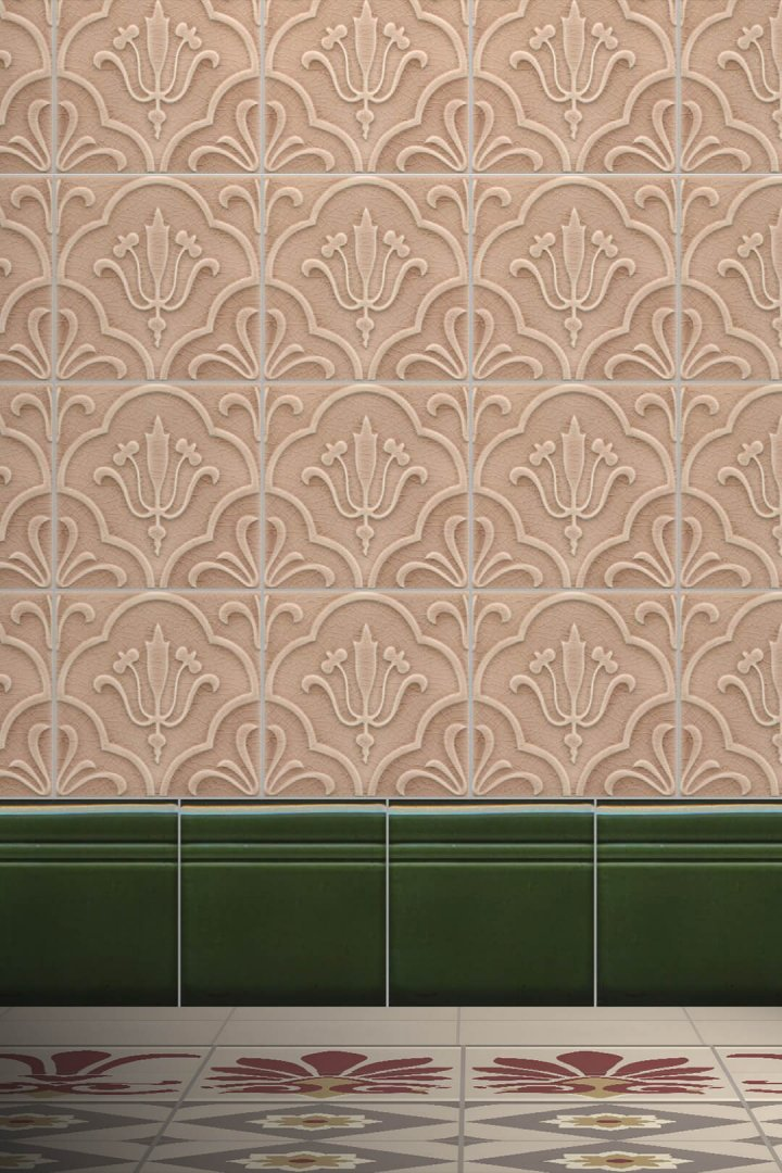 Wall tiles Borders, base tiles and trim pieces Verlegebeispiel SOF 5.34