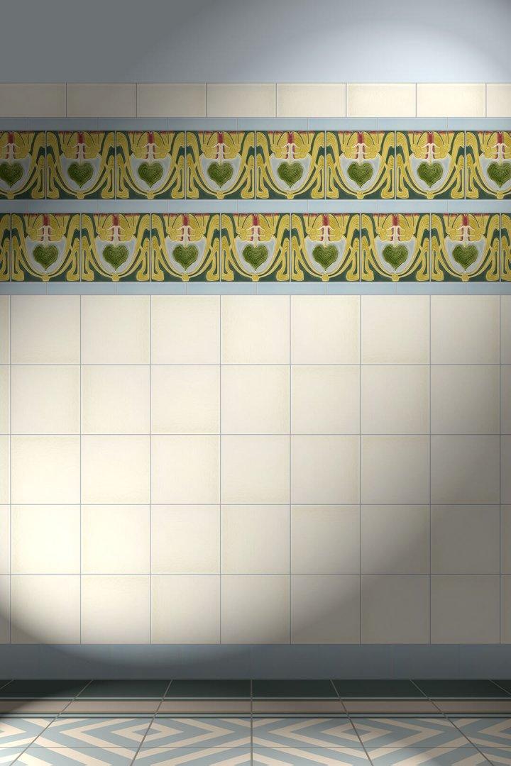 F 60 V3 Verlegebeispiel Dekorfliesen