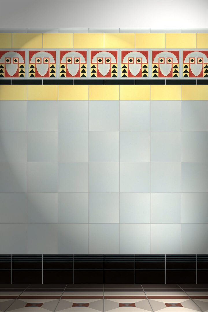 Wall tiles Tiles decorated Verlegebeispiel F 61 V1