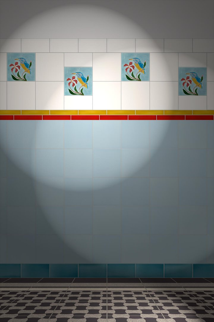 Carreaux muraux  Avec motifs Verlegebeispiel F 67 V1