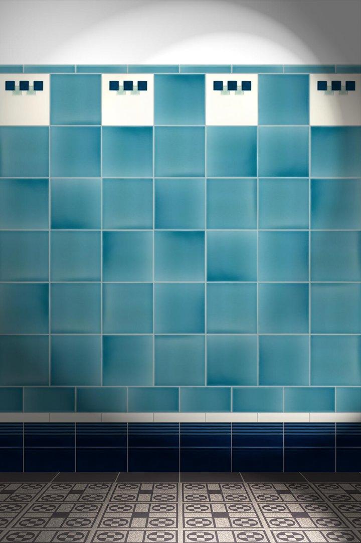 Wall tiles Tiles decorated Verlegebeispiel F 68 V1