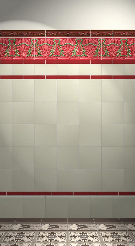 Carreaux muraux  Avec motifs Verlegebeispiel F 73 V2
