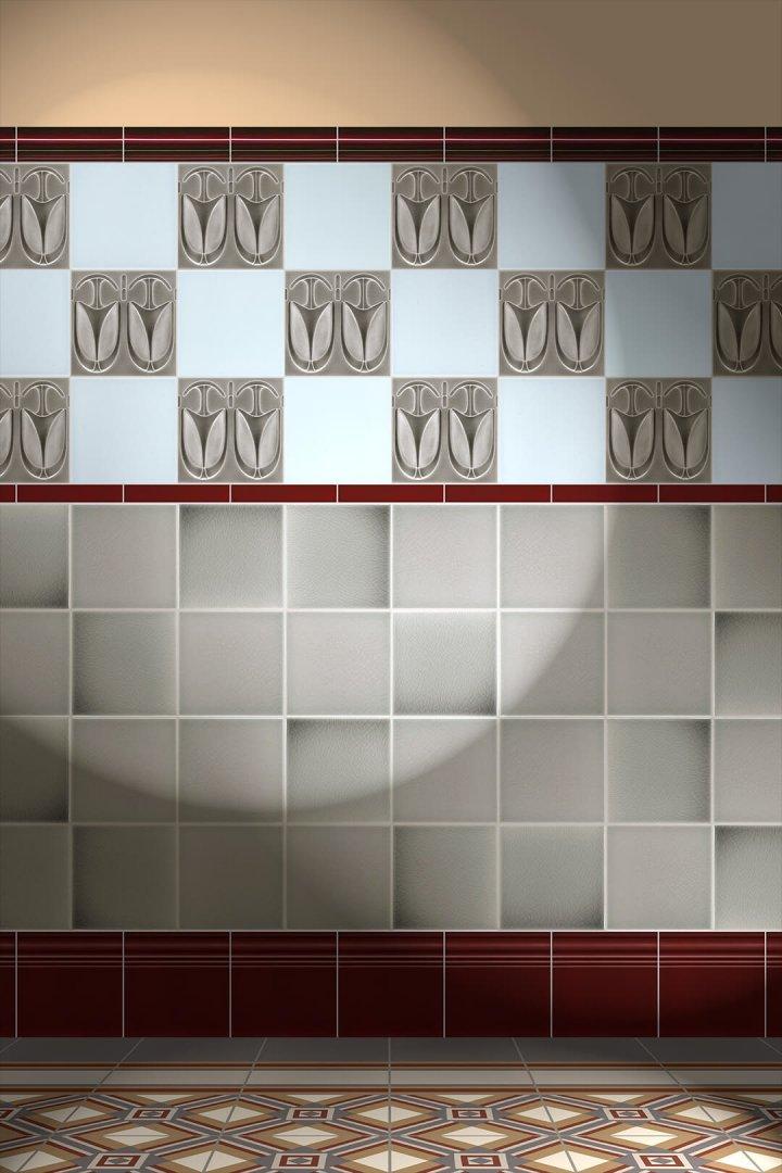 Carreaux muraux  Avec motifs Verlegebeispiel F 75.45