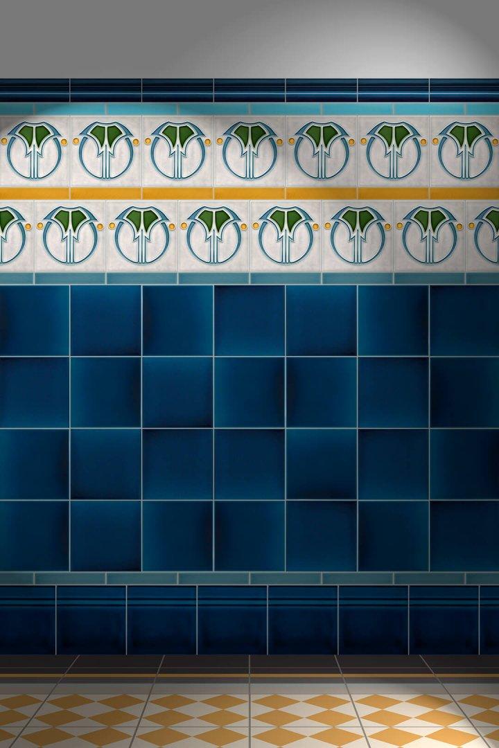 Carreaux muraux  Avec motifs Verlegebeispiel F 79 V2
