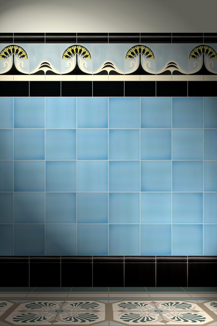 Wall tiles Tiles decorated Verlegebeispiel F 80a V1