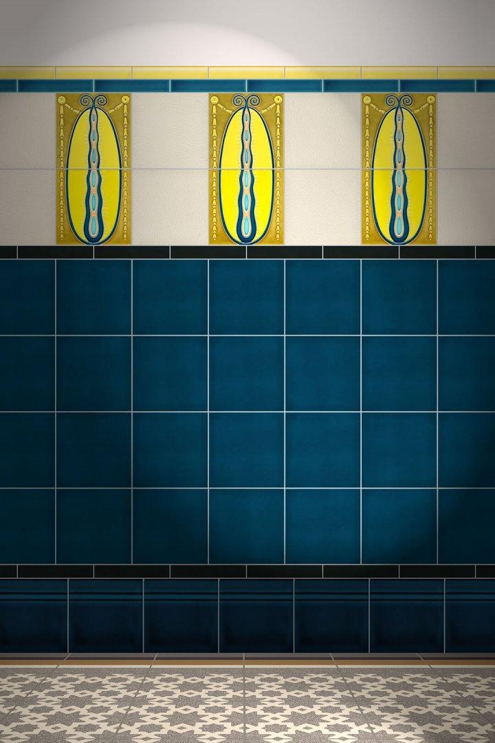 Wall tiles Tiles decorated Verlegebeispiel F 82b V1