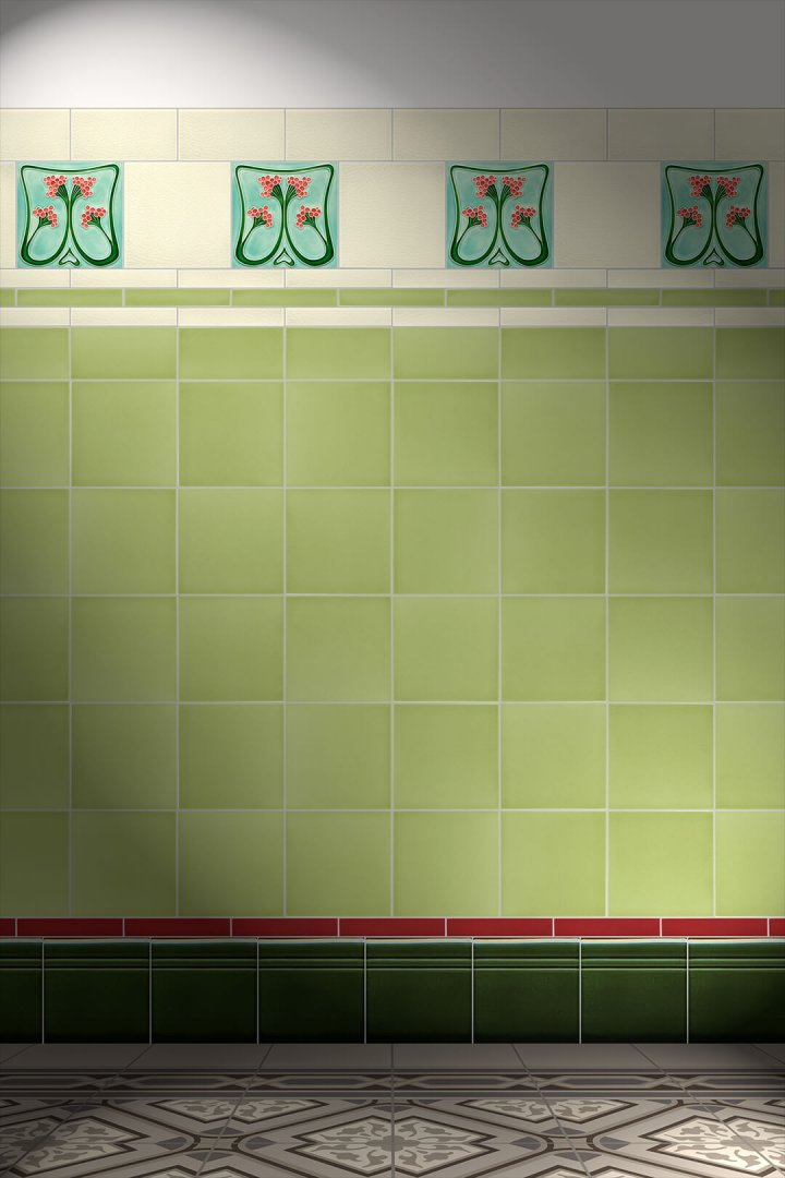 Carreaux muraux  Avec motifs Verlegebeispiel F 86 V1