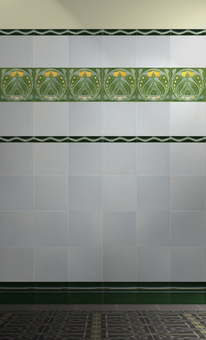 Wall tiles Tiles decorated Verlegebeispiel F 88 V1