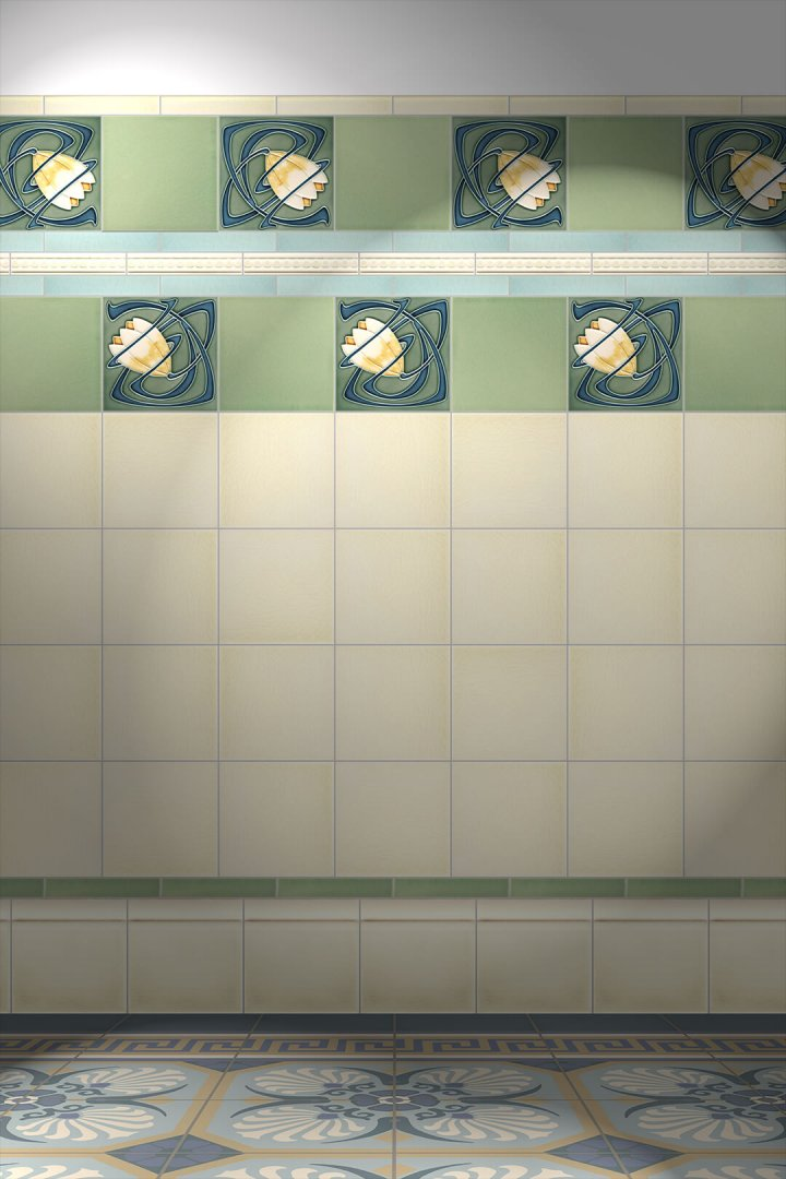 Wall tiles Tiles decorated Verlegebeispiel F 91 V2