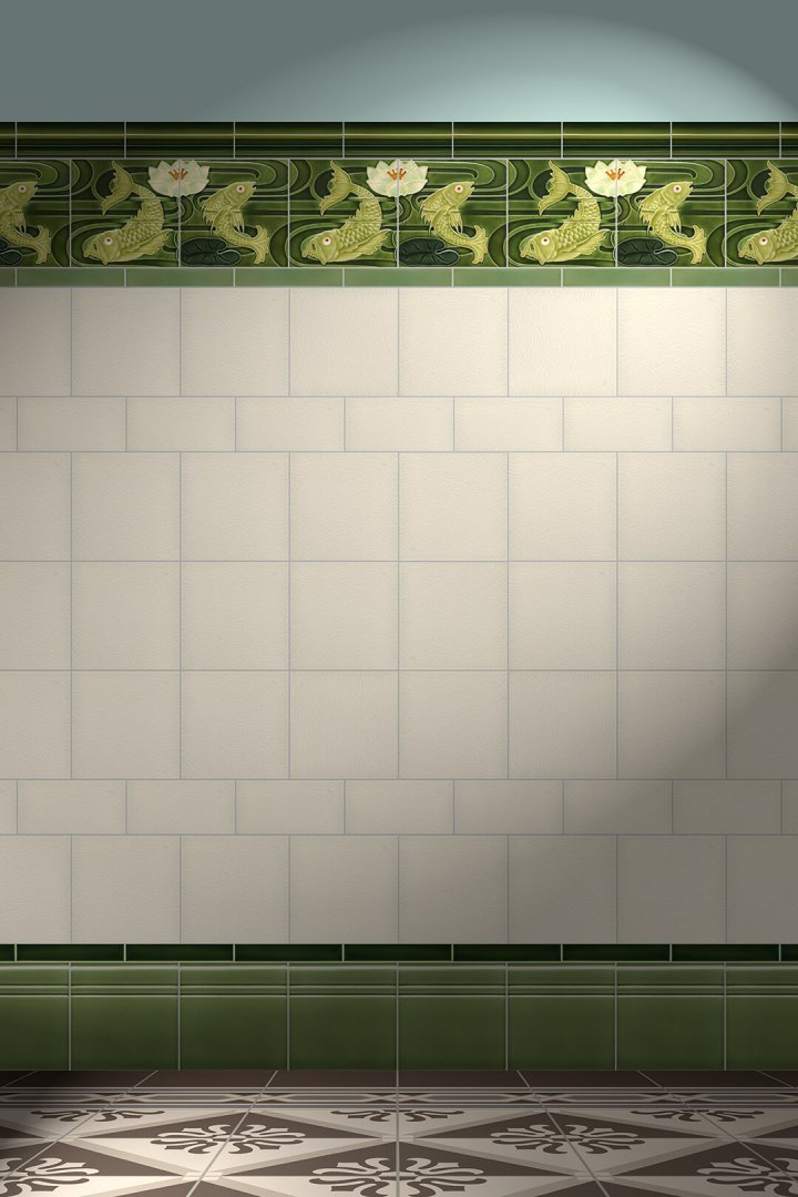 Wall tiles Tiles decorated Verlegebeispiel F 94a V1