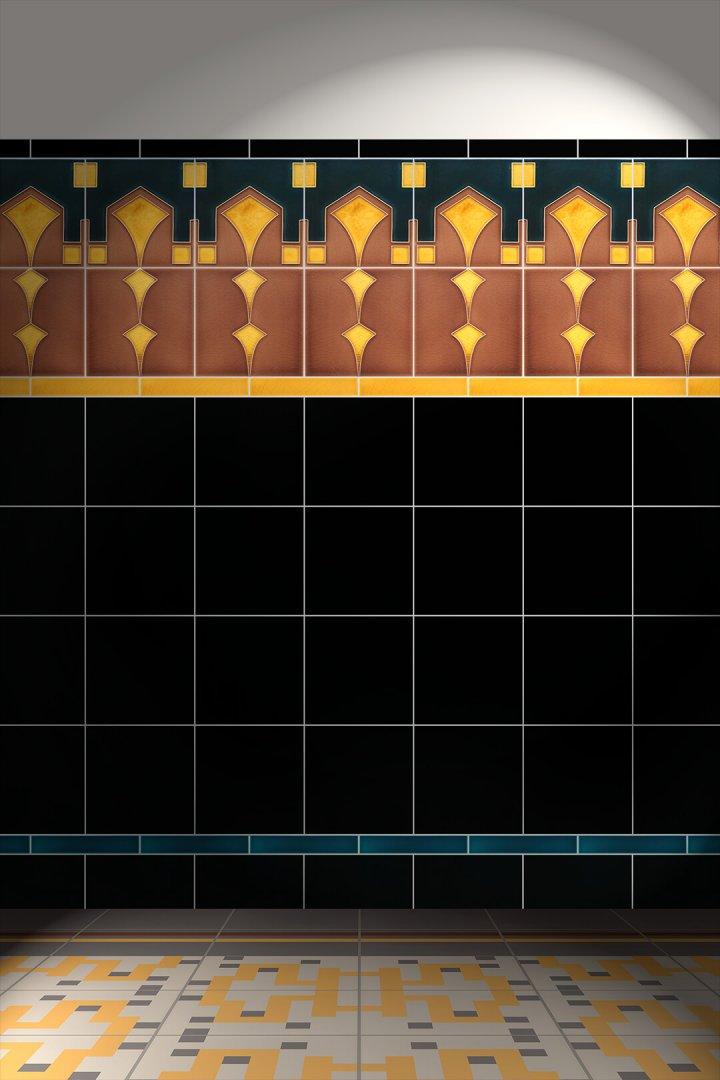 Carreaux muraux  Avec motifs Verlegebeispiel F 96 V1