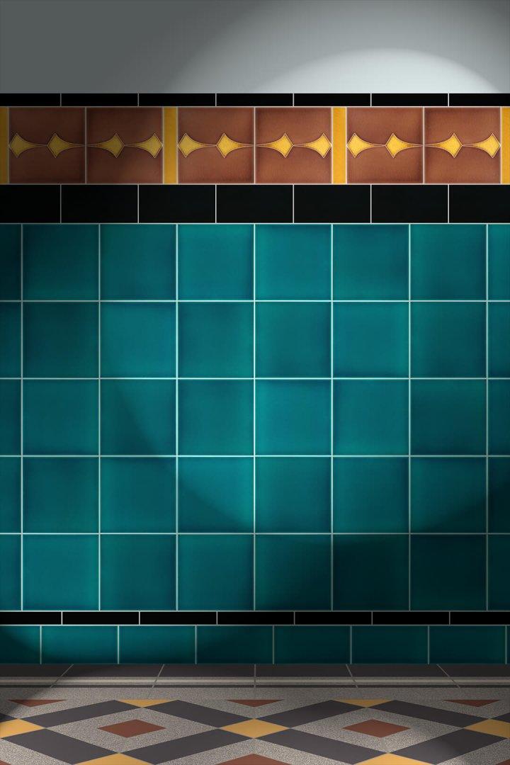 Carreaux muraux  Avec motifs Verlegebeispiel F 97 V1