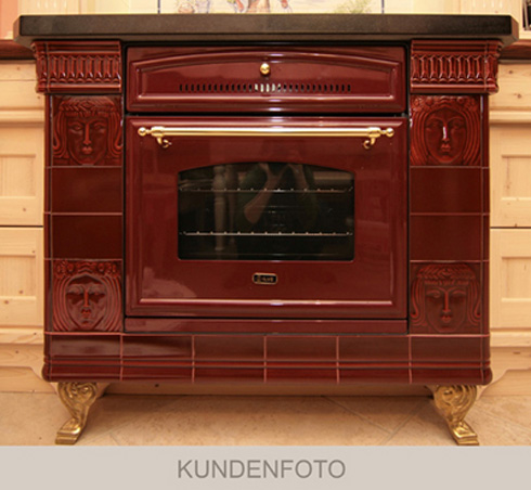 Photos of customers: Oven with red art and craft tiles Golem glaze.400.400