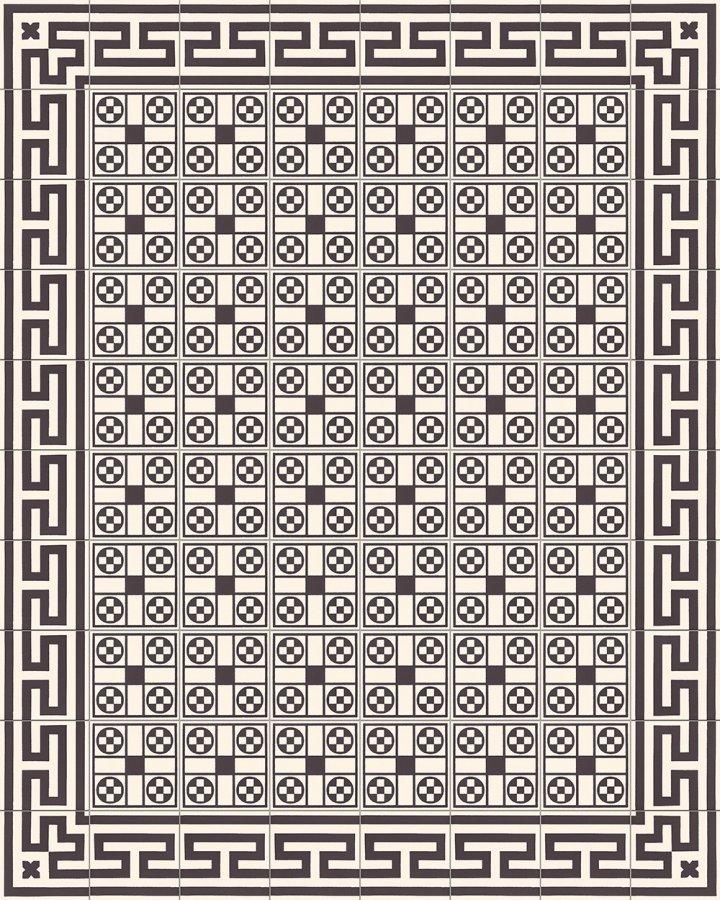 Fliesenteppich-schwarz-weiß-SF 206 M +  SF 257 M